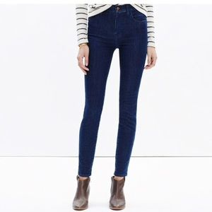 "Madewell 10"" high-rise skinny jeans in lydia wash"